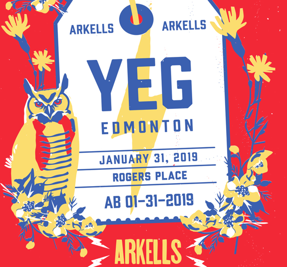 Edmonton Rogers Place Poster January 31, 2019