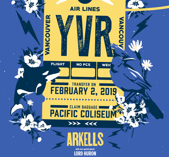 Vancouver Pacific Coliseum Poster February 2, 2019