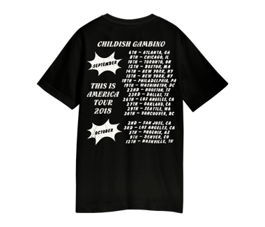 PARTY TOUR T-SHIRTSEPTEMBER - OCTOBER 2018