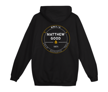 2019 Solo Acoustic Tour Zip Hoody Black