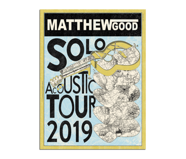 2019 Solo Acoustic Tour Poster