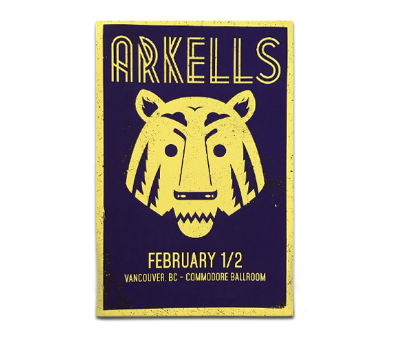 "Vancouver Commodore Ballroom ""Lion"" Poster February 1 & 2, 2015"