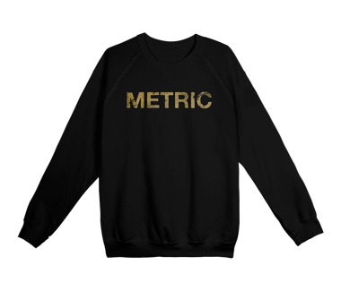 Metric Logo Crewneck Sweatshirt Limited Edition