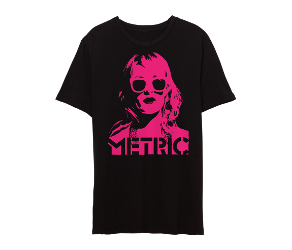 EMILY FACE Punk Pink Print  Limited Edition Tee