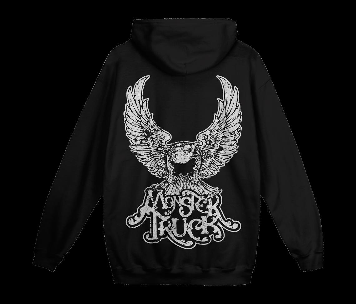 c49525080aede5 True Rocker Eagle Zip Hoodie - Black - TRUE ROCKERS - Monster Truck ...