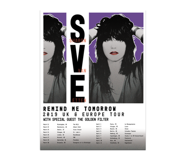 Remind Me Tomorrow 2019 European Tour Poster