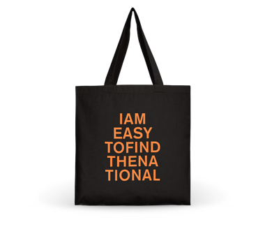 I am Easy To Find Tote Bag - Orange