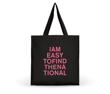 I am Easy To Find Tote Bag - Pink