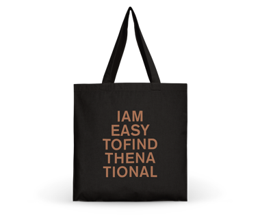 I am Easy To Find Tote Bag - Brown