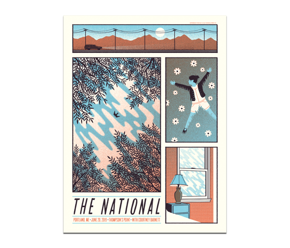 Portland Thompson's Point Poster June 20, 2019 Cherry Tree Variant  (SOLD OUT)