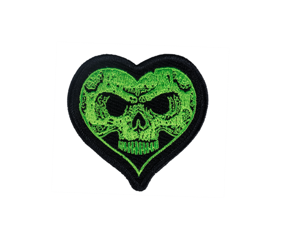 Green Heartskull Patch