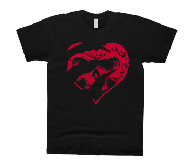 Raptors Heart Skull T-Shirt