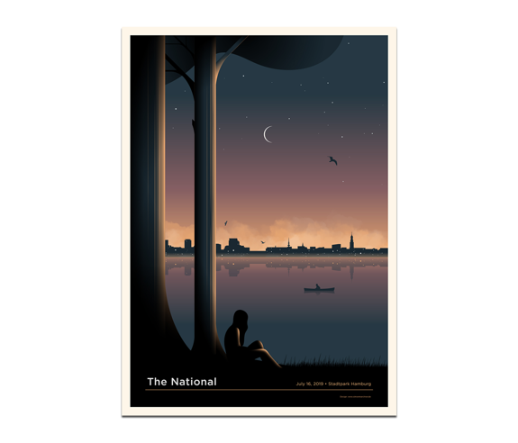Hamburg Stadtpark Poster July 16, 2019 Cherry Tree Variant (SOLD OUT)