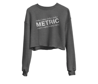 Women's J'adore Metric Crop Sweatshirt + AOD Digital Download Limited Edition