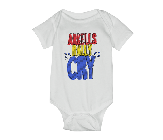 Rally Cry Baby Onesie