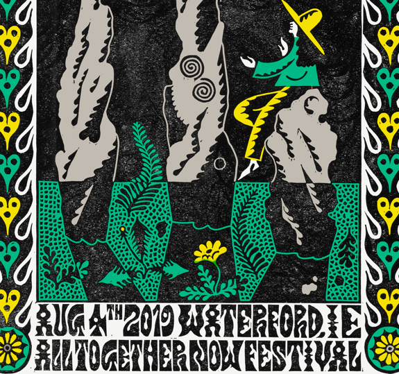 Waterford All Together Now Festival Poster August 4, 2019 Cherry Tree Variant