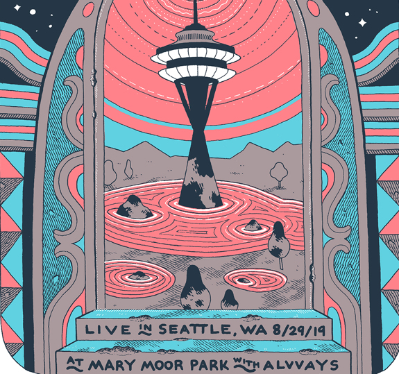 Seattle Marymoor Park Poster August 29, 2019 (SOLD OUT)