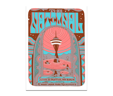Seattle Marymoor Park Poster August 29, 2019 Cherry Tree Variant