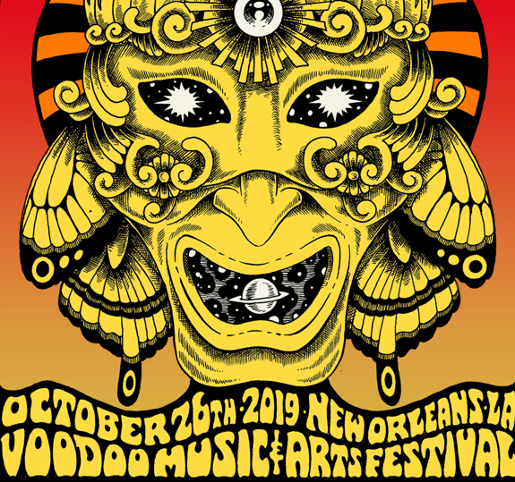 New Orleans Voodoo Fest Poster October 26, 2019