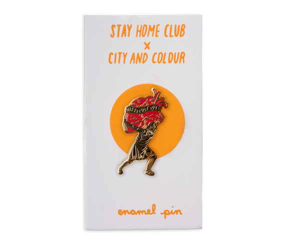 Stay Home Club x City & Colour Difficult Love Lapel Pin