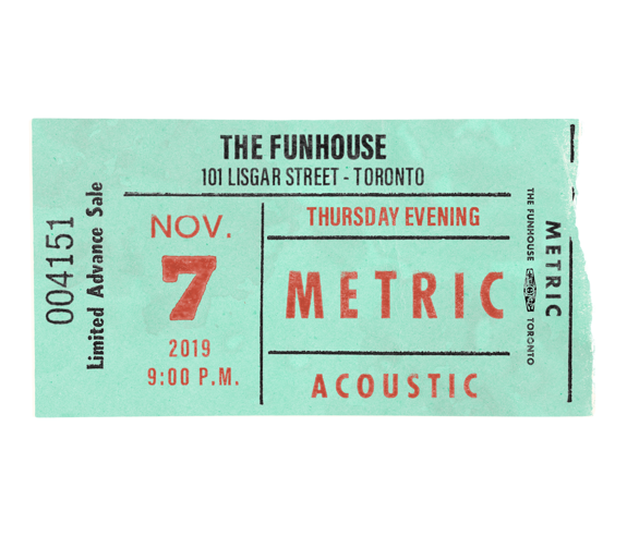November 7, 2019 Funhouse Recording Event Ticket Package
