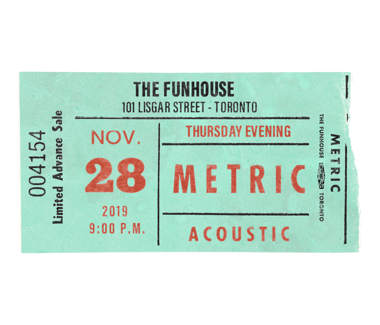 November 28, 2019Funhouse Recording Event Ticket Package