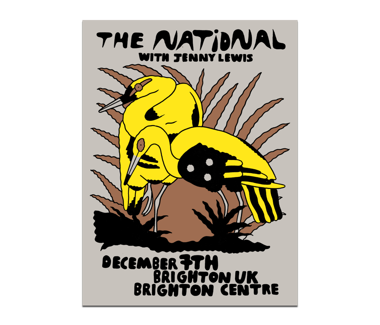 Brighton, UK Brighton Centre Poster December 7, 2019 Cherry Tree Variant