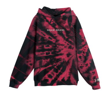 Embroidered Tie Dye Hoody