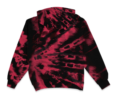 Embroidered Tie Dye Hoodie