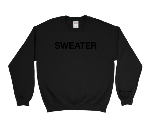 "Black-on-Black ""Sweater"" Crewneck Sweatshirt"