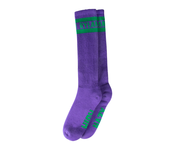 Rylan Knee High Socks (Purple/Green)