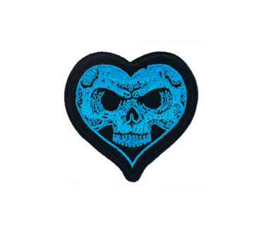 Blue Heartskull Patch