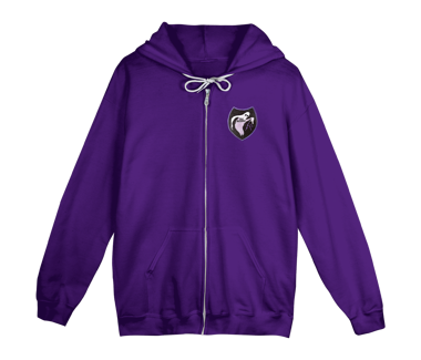 Ghost Patch Zip Hoody Cherry Tree Exclusive