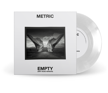 "Empty (Dirt Road Version)  Cover Photo #2 - Rocks  Limited Edition 7"" Vinyl (White)"