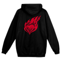 Heart On Fire Zip Hoodie