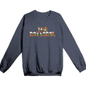 Color Text Raglan Sweatshirt