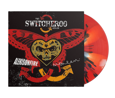"ALEXISONFIRE / MONEEN The Switcheroo Series 12"" Vinyl (Red / Orange Pinwheel w/ Black Splatter)"