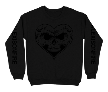 Black-on-Black Heartskull Crewneck Sweatshirt