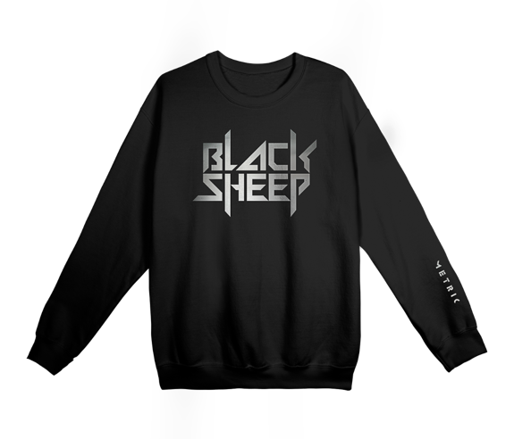 Black Sheep Silver Foil Crewneck SweatshirtLimited Edition